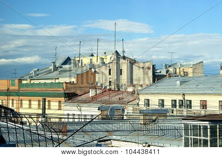 View Of The Roofs  Of Saint-petersburg, Russia
