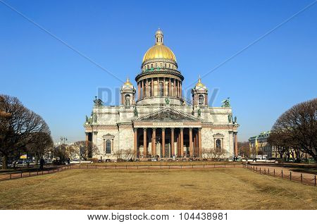 Saint Isaacs Cathedral In St. Petersburg, Russia