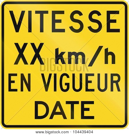 Speed In Kmh Since Date In Canada