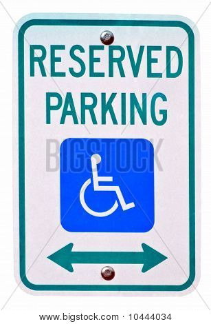 Reserved Parking For Disabilties