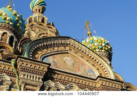 Fragment Of Cathedral Of Our Saviour On Spilled Blood, St. Petersburg
