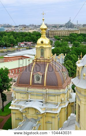 Panorama Of Saint-petersburg From Height