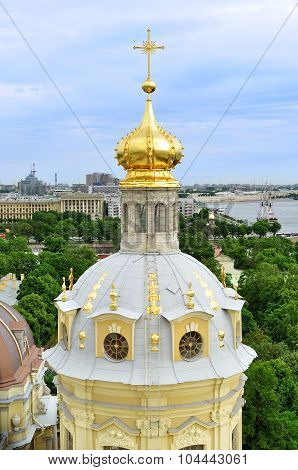 Panoramic View Of Saint-petersburg From Height, Russia