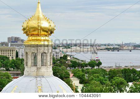 Panorama Of Saint-petersburg From Height, Russia