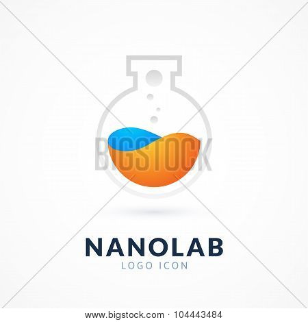 Nano lab logo template