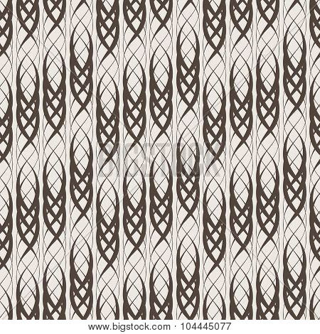 Seamless abstract pattern of intertwined lines