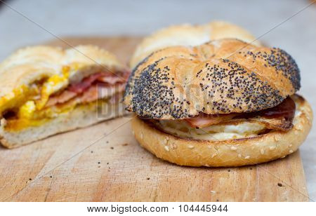 Sandwich with egg and bacon