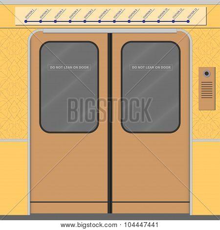 Old Subway Train Doors