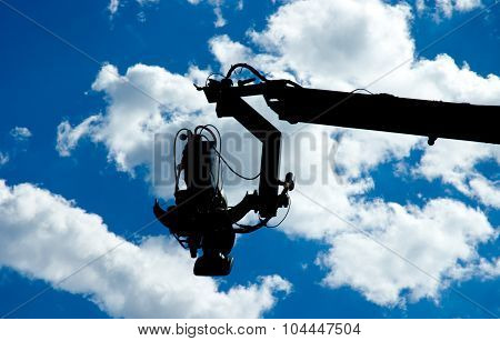 Television Camera On Dolly Silhouette