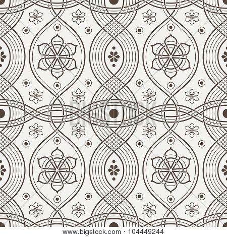 Seamless pattern of interwoven lines