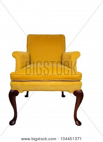 Beautiful yellow vintage chair