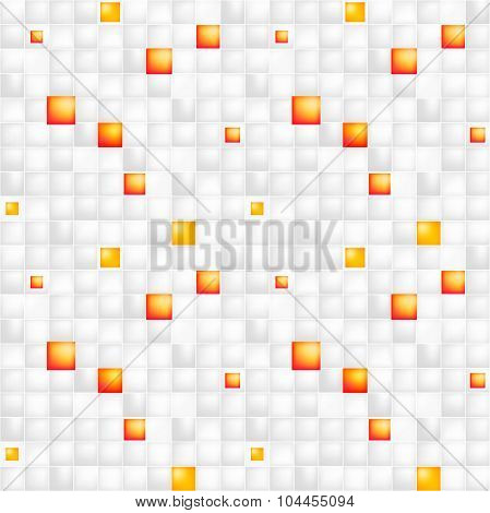 Glossy colorful mosaic square cells grid