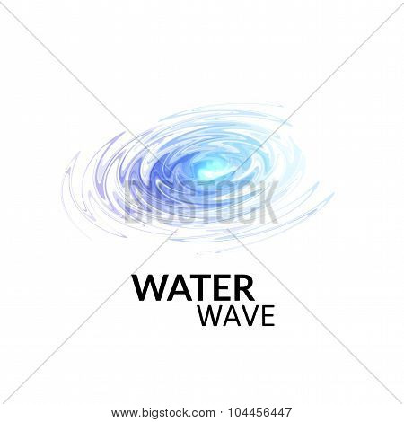 Radial sonar water waves, blue purple ray