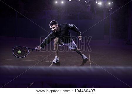 Lawn tennis action