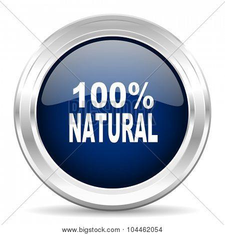 natural cirle glossy dark blue web icon on white background