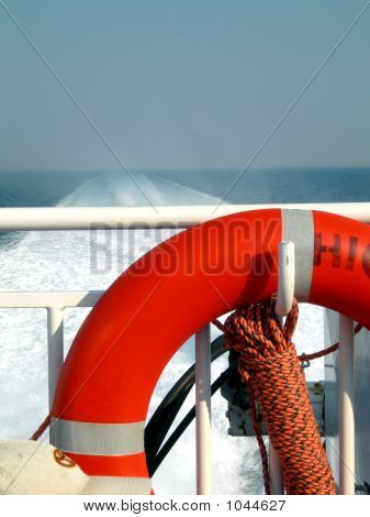 Boat Deck With Life Saver