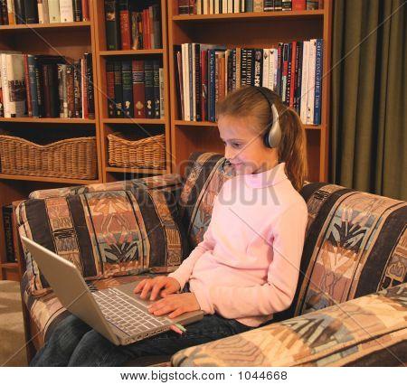 Homeschooler At Work