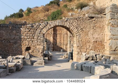 Ephesus antique ruins of the ancient city in Turkey