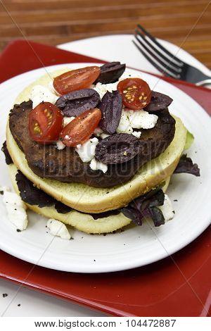 Greek Style Beef Burger