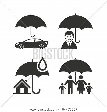 Family, Real estate or Home insurance icon.