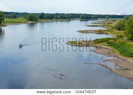 Elbe With Breakwaters