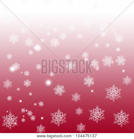 Snowflakes On A Gradient Background