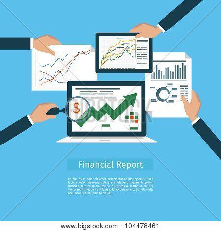 Financial flat concept