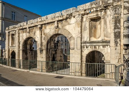 Ancient Porta Augusta In Nimes