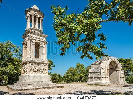 Ancient Mausoleum And Arch Of Glanum (les Antiques)