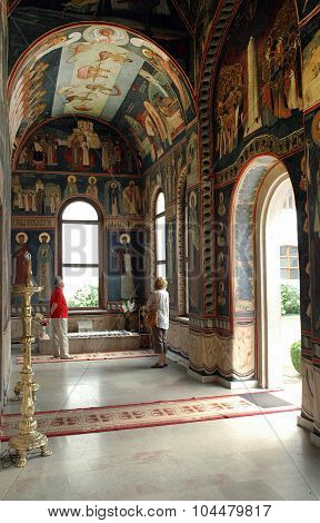 The Grave Of Saint Nicodim In The Monastery Of Tismana, Romania