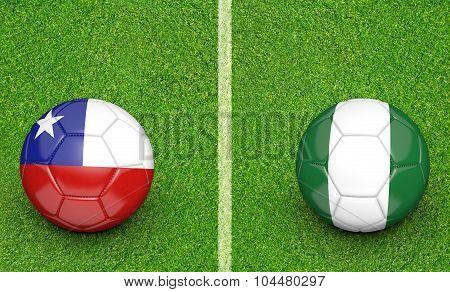 Team balls for Chile vs Nigeria soccer tournament match