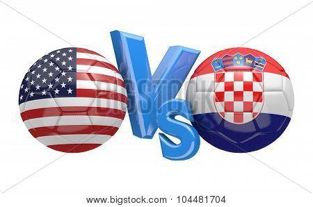 Soccer versus match between national teams United States and Croatia