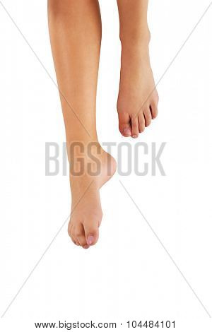 Woman's smooth bare feet with pedicure.