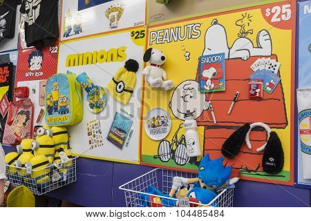 Minions And Peanuts Showbags In The 2015 Royal Melbourne Show