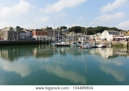 Padstow harbour North Cornwall England UK beautiful late summer sun and calm fine weather