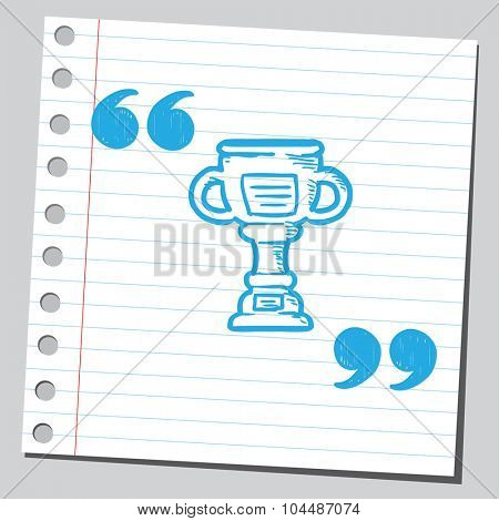 Trophy cup in speech quotas