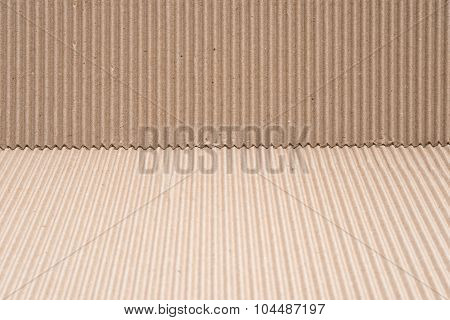 Cardboard Corrugated Pattern At Two Different Angles