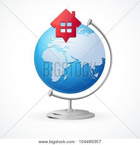 Concept Globe. Vector