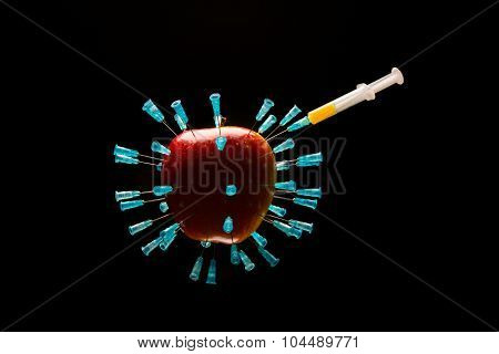 Apple With Needles 3