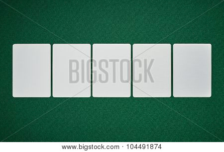 Poker Blank Cards On Table