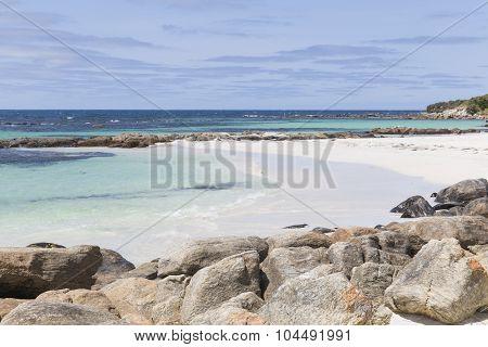 Rocks on the Beach at Augusta