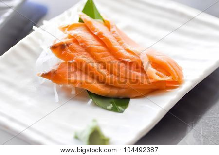 Raw Salmon , Sliced Salmon