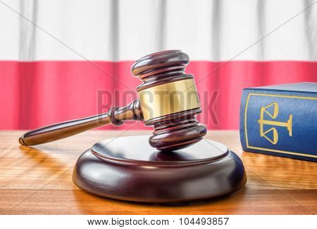 A Gavel And A Law Book - Poland