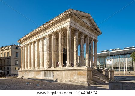 Ancient Monument Maison Carree Of Nimes