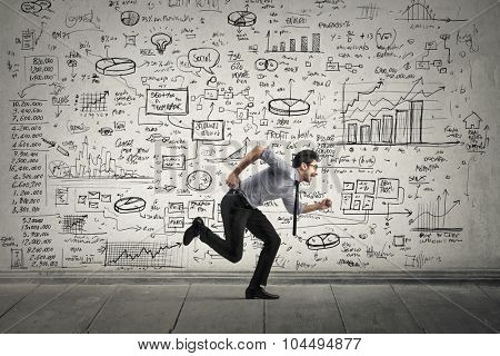 Employee running away from schemes and statistics