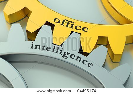 Office Intelligence Concept On The Gearwheels