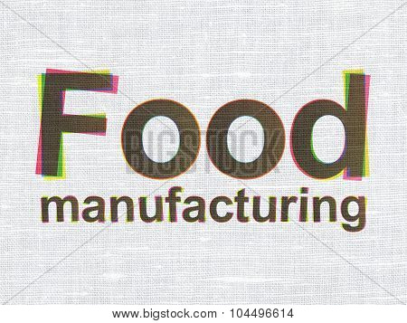 Industry concept: Food Manufacturing on fabric texture background
