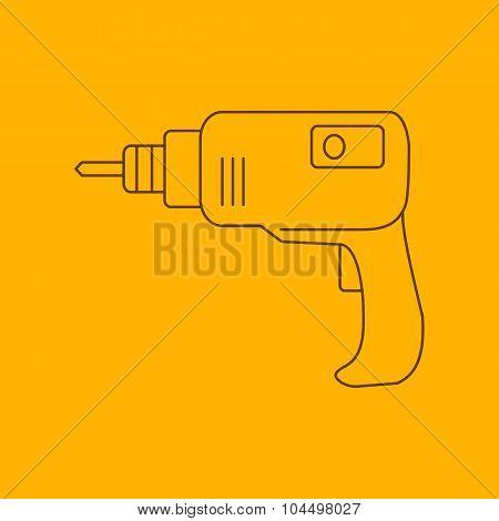 Drill line icon