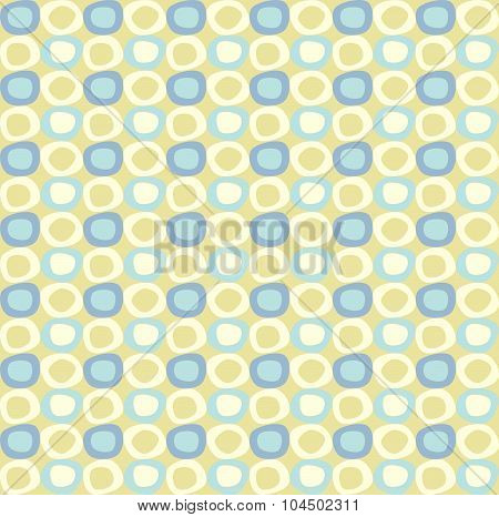 seamles pattern with yellow and blue ovals.