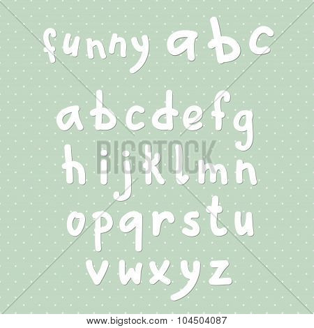 Vector Funny Lowercase English Alphbet
